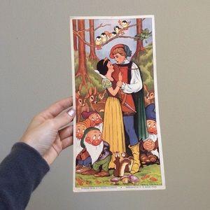 Vintage Disney Snow White French Advertisement
